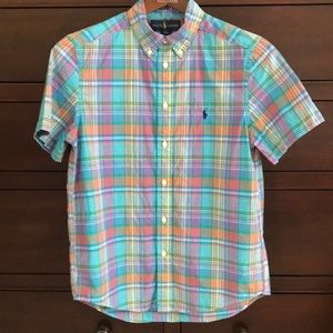 Ralph Lauren plaid button down short-sleeve shirt